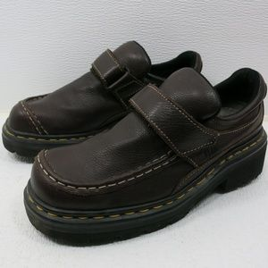 Dr. Martens Hook and Loop Strap Leather Loafers 8